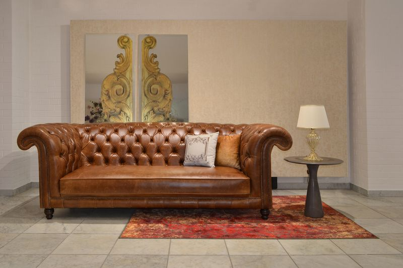 Balmoral Chesterfield bőr kanapé